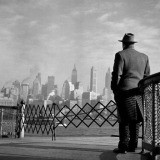 Burt Glinn, USA. New York City. 1951. View of Lower Manhattan from the Staten Island Ferry.