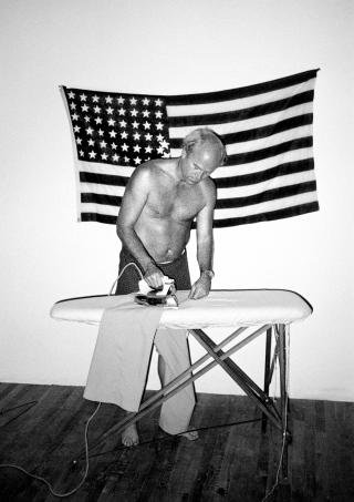 James Rosenquist Ironing His Trousers, by Chico Aragao