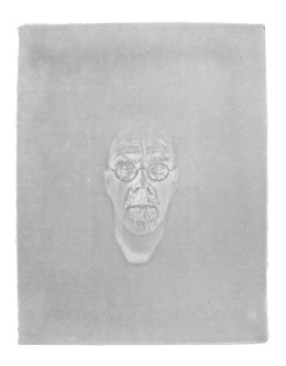Watermark Self-Portrait, by Chuck Close