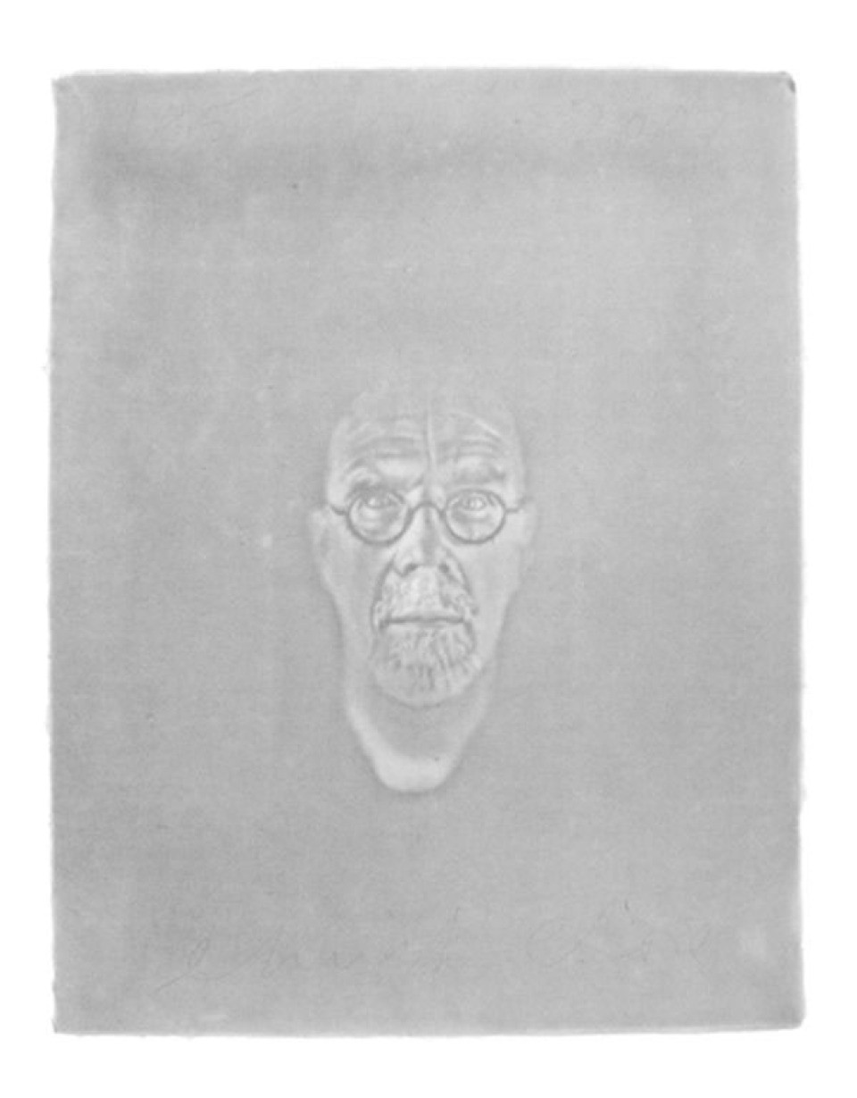 Chuck Close, Watermark Self-Portrait