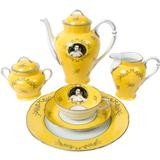 Madame de Pompadour (née Poisson)- 21- piece porcelain tea set