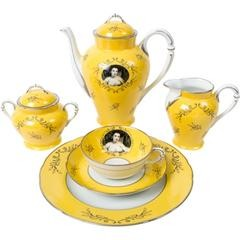 Madame de Pompadour (née Poisson)- 21- piece porcelain tea set, by Cindy Sherman
