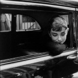 "USA. New York, NY. 1954. Dutch actress Audrey Hepburn during the filming of ""Sabrina"" by Billy Wilder."