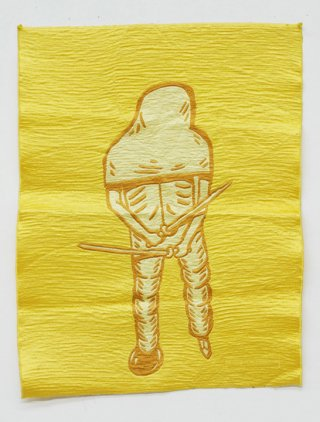 Eko Nugroho Yellow Soldier #2 art for sale