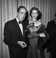 Humphrey Bogart and Lauren Bacall at Oscars, by Frank Worth