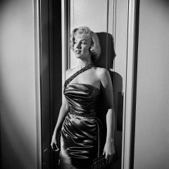 "Marilyn Monroe Against wall on Set of ""How to Marry a Millionaire"", by Frank Worth"