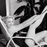 Marilyn Monroe in Bathing Suit with Leg Up