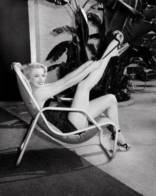 Marilyn Monroe in Bathing Suit with Leg Up, by Frank Worth