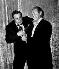 Marlon Brando and Bob Hope FIght Over Oscar, by Frank Worth