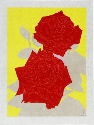 Two Roses, by Gary Hume