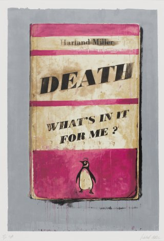 Death, What's in it for me?, by <a href='/site-admin/artists/artist/379'>Harland Miller</a>