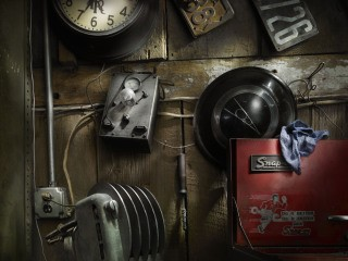Last Chance Garage Wall, by Harold Ross