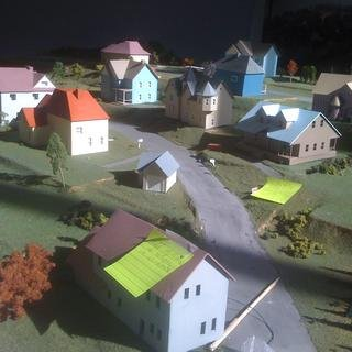 James Casebere - Dutchess County Model Under-Construction, Photograph