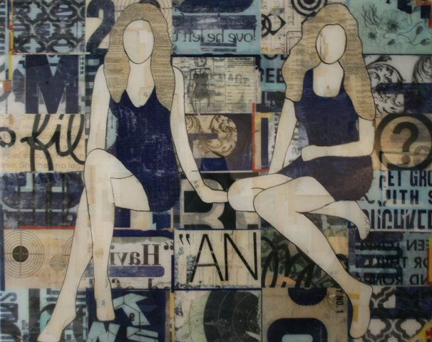 Jane Maxwell, Seated Girls Blue