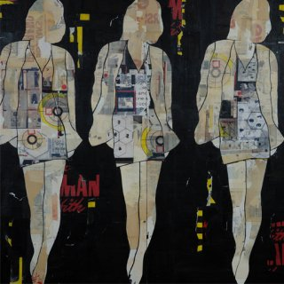 Jane Maxwell, Three Walking Girls Black