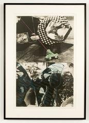 Fairytale Series: Looking While Catching and Holding (Frog & Butterfly), by John Baldessari