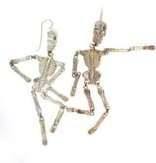 Skeleton Earrings, by Judith Hudson