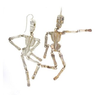 Skeleton Earrings art for sale