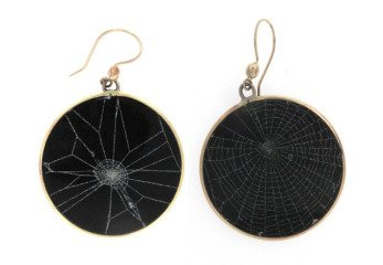 Spider Web Earrings, by Judith Hudson