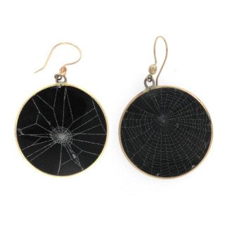 Spider Web Earrings art for sale