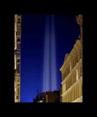 Julian LaVerdiere and Paul Myoda Tribute in Light Over SoHo art for sale