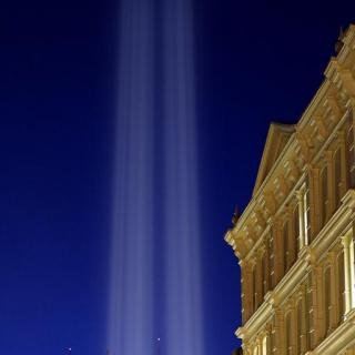 Julian LaVerdiere and Paul Myoda, Tribute in Light Over SoHo