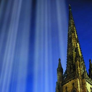 Tribute in Light Over Trinity Church art for sale