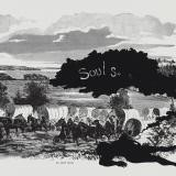 Kara Walker, Harper&#39;s Pictorial History of the Civil War (Annotated), Scene of McPherson&#39;s Death