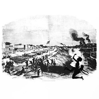 Occuptation of Alexandria from Harper's Pictorial History of the Civil War (Annotated) art for sale