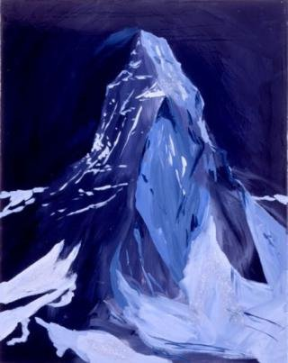 The Matterhorn At Night, Dreamland, 9pm, 3am, Zermatt, by <a href='/site-admin/artists/artist/112'>Karen Kilimnik</a>