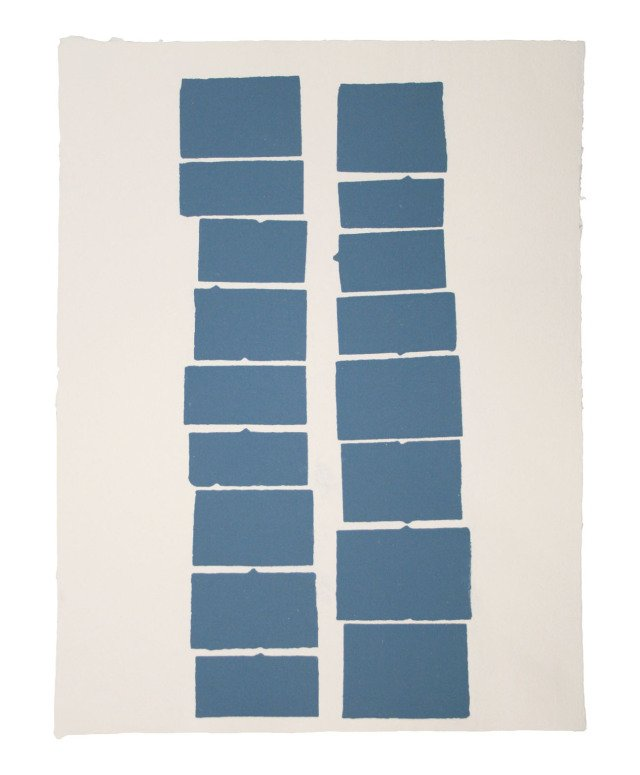 Kate Shepherd, Blue Tab Stacks (9, 8)