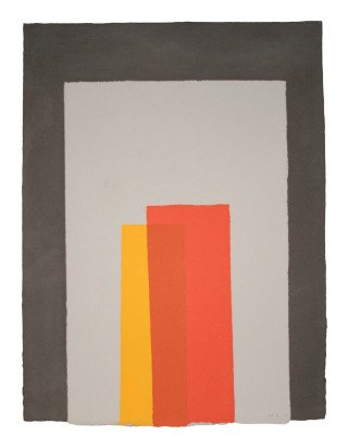 Kate Shepherd Color Trope Black, Gray, Reds, Orange art for sale