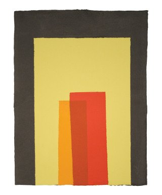 Kate Shepherd Color Trope Black, Lemon Yellow, Reds, Orange art for sale
