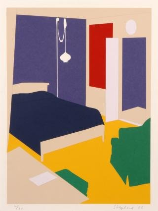 Paper Bedroom, by Kate Shepherd