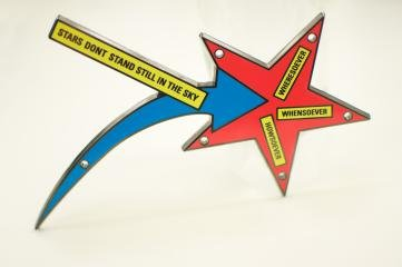 STARS DONT STAND STILL IN THE SKY, by <a href='/site-admin/artists/artist/130'>Lawrence Weiner</a>