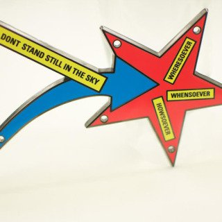 STARS DONT STAND STILL IN THE SKY, by Lawrence Weiner