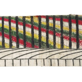 Martín Ramírez, Untitled (Abstraction with Yellow, Green, and Red)
