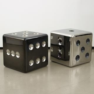 Dice stool/side table art for sale