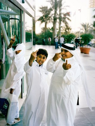 Boys, Qatar, by Muir Vidler