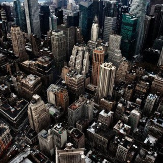 Aerial view of New York City. USA. art for sale