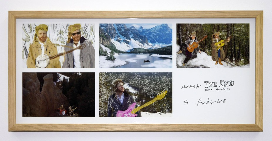 Ragnar Kjartansson, Sketches for The End Rocky Mountains