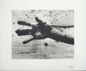 Still from 'Hand Catching Lead', by Richard Serra