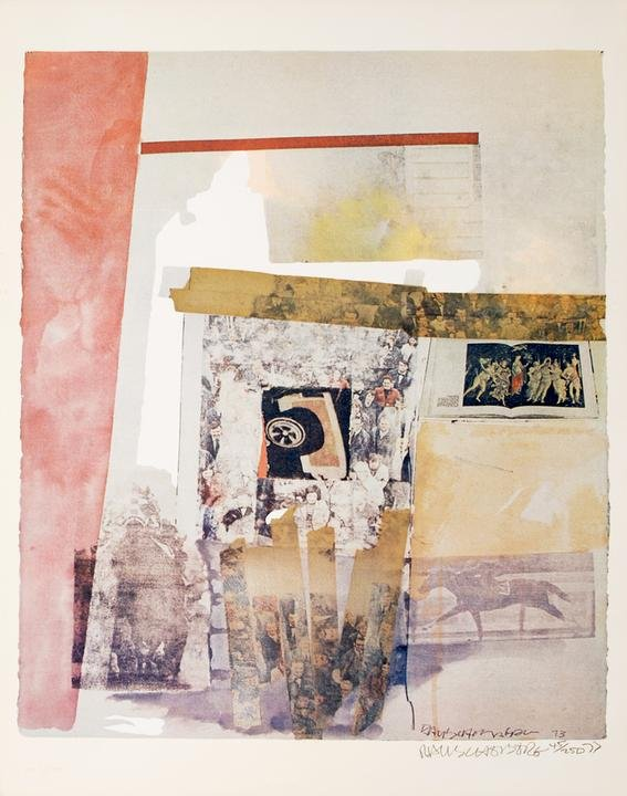 Rauschenberg's Watermark (1973) is available on Artspace for $4,000