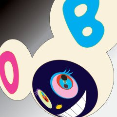 AND THEN White & 2005 Black, by Takashi Murakami
