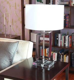 7. Mitchell Gold + Bob Williams Beckett Table Lamp&lt;br&gt;Lamp height: 29&quot;&lt;br&gt;Shade: 18.5&quot; Diameter x 10.5&quot;H&lt;br&gt; $150 