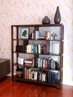 8. Maria Yee Ventana Squares Bookshelf&lt;br&gt; Color: Coffee&lt;br&gt; 61&quot;W x 14&quot;D x 69&quot;H&lt;br&gt; $1,950 