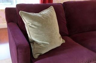 21. Solid Throw Pillow (sold as a pair)&lt;br&gt; Color: Grey Solid&lt;br&gt; 21&quot;W x 21&quot;L&lt;br&gt; $50 