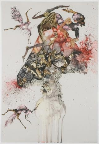 Howl, by Wangechi Mutu